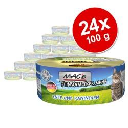 Økonomipakke: 24 x 100 g MAC's Cat Gourmet - And & kanin