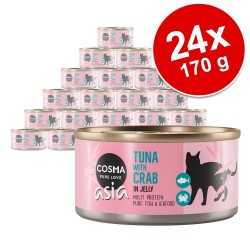 Økonomipakke: 24 x 170 g Cosma Thai / Asia i gelé - Kylling & rejer