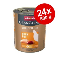 Økonomipakke: 24 x 800 g Animonda GranCarno Adult Monoprotein - Okse