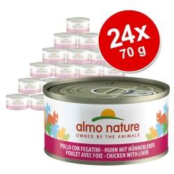 Økonomipakke: Almo Nature 24 x 70 g - Kylling & tun