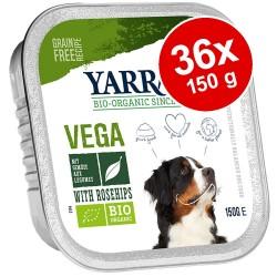 Økonomipakke: Yarrah Øko i alubakke 36 x 150 g hundefoder - Vega med økologisk hyben (vegansk hundefoder)