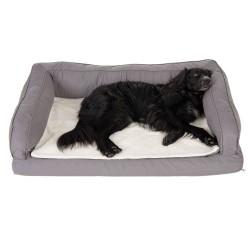 Ortopædisk Hundesofa - Grå - XL: L 140 x B 80 x H 32 cm
