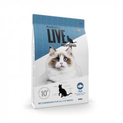 Probiotic Live Neutered Fisk til kat, 8 kg