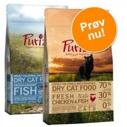 Prøvepakke: 2 / 3 x 400 g Purizon Adult - 2 x 400 g: Okse & Kylling + Lam & Fisk