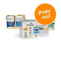 Prøvepakke: 7 x 100 g Schesir Natural Selection vådfoder - Mix: 3 varianter