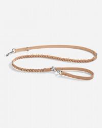 Robust long line i flettet læder 195 cm (natur) - Bergamo