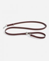 Robust long line i glat læder 195 cm (brun) - Bergamo