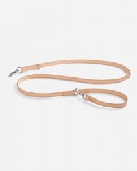 Robust long line i glat læder 195 cm (natur) - Bergamo