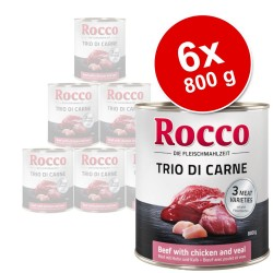 Rocco Classic Trio di Carne 6 x 800 g - Okse, Kylling & Kalv