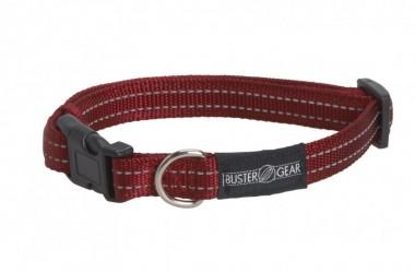 Rødt BUSTER refleks halsbånd, 2 cm bred, justerbar 400-550 mm,