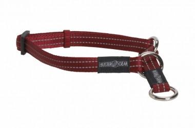 Rødt BUSTER refleks kvælerhalsbånd, 2,5 cm bred, 450-650 mm