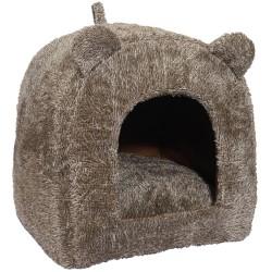 Rosewood kattehule med ører - Brun