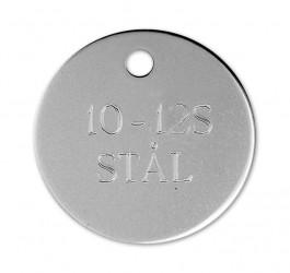 Rundt Hundetegn i stål - 33 mm