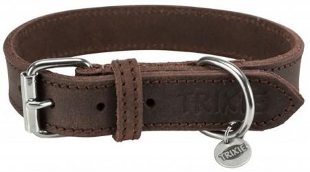 Rustikt Læder Halsbånd, Mørkebrun, 57-66 cm