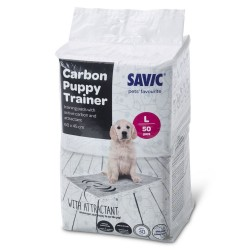 Savic Puppy Trainer Pads med aktivt kul - Medium: L 45 x B 30 cm, 50 stk.
