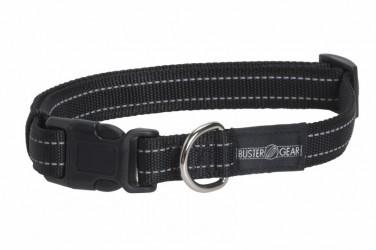 Sort BUSTER refleks halsbånd, 2,5 cm bred, justerbar 450-650 mm