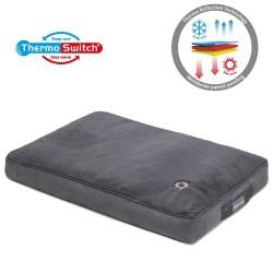 ThermoSwitch® Hundepude Milos grå - M: L70xB50xH11cm