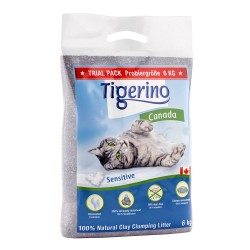 Tigerino Canada Sensitive kattegrus - parfumefri - 6 kg