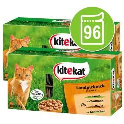 Topseller-pakke: 96 x 100 g Kitekat portionsposer - Mix