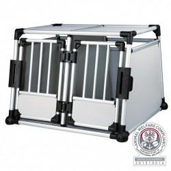 Transportbur til 2 hunde i aluminium