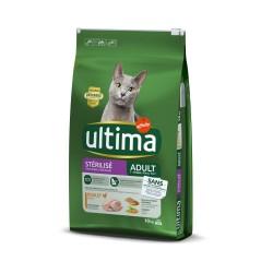 Ultima Cat Sterilized Kylling & byg - 10 kg