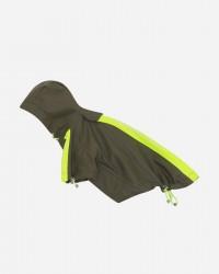 Vandtæt regnjakke m/velcroluk & justerbar hætte - Army (KR02), M