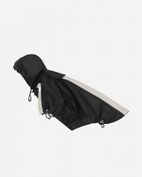 Vandtæt regnjakke m/velcroluk & justerbar hætte - Black (KR02), M