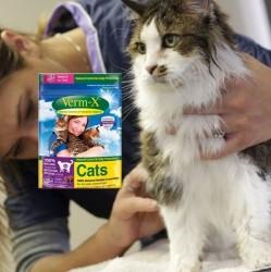 Verm-X er et effektivt naturbaseret ormemiddel til killing og kat der er let at få katten til at indtage