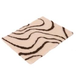 Vetbed® Isobed SL Hundetæppe Wave, creme/brun 150x100 cm