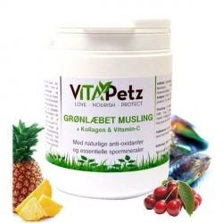VitaPetz Grønlæbet Musling + Kollagen og Vitamin C, 450gr.