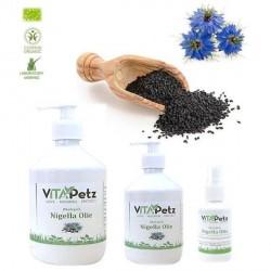VitaPetz Økologisk Nigella Olie, 500 ml pumpe