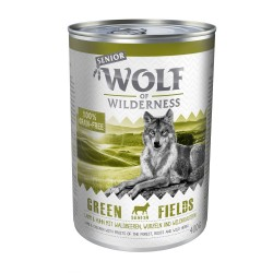 Wolf of Wilderness Senior 6 x 400 g - Green Fields - Lam & Kylling